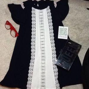 Bonnie Jean dress navy 6x for girl